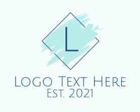 Beauty - Paint Brushstroke Letter logo design