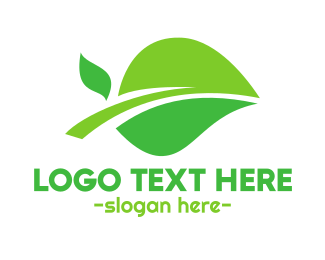Free Range - Organic Green Leaf logo design