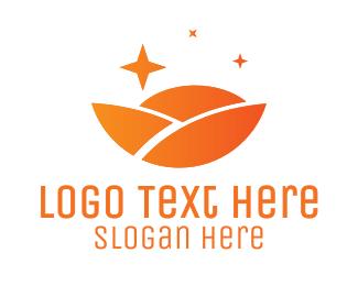 Agritech - Orange Circle Landscape logo design