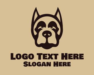 Bark - Dobermann Head logo design