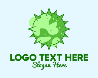 Disease - Green Planet Virus logo design