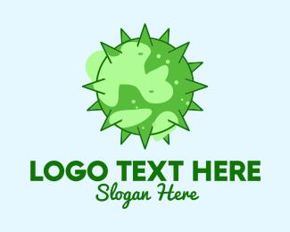 Earth - Green Planet Virus logo design