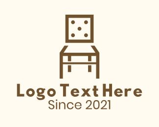 Dice - Dice Wooden Chair logo design