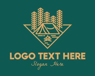 Campfire - Outdoor Forest Camping logo design