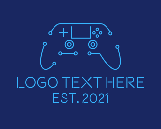 Gaming Equipment - Digital Game Controller logo design