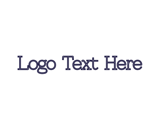 Typewritten - Blue Typeface logo design