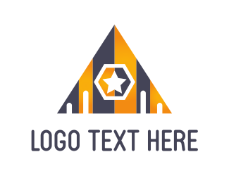 Door - Star Pyramid logo design