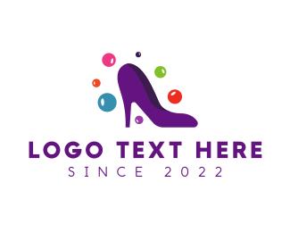 Footwear - Purple Fashion Stiletto logo design