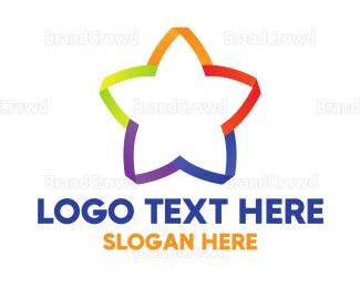 Rainbow - Rainbow & Star logo design