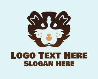 Brown Dog - Brown Fluffy Guinea Pig logo design