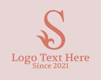 Branch - Floral Letter S logo design
