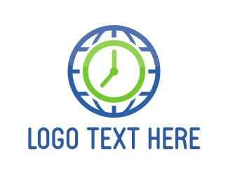 Day - World Clock logo design