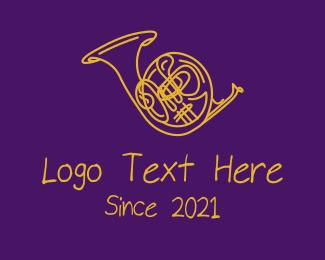 Drumline - Golden Trumpet  logo design