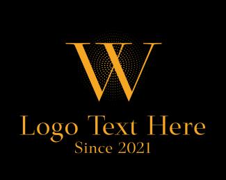 Letter W - Classic Orange Letter W logo design