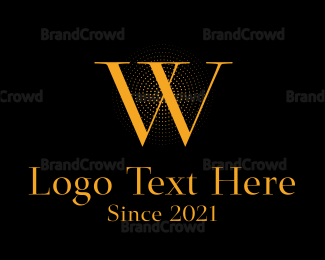 Classic - Classic Orange Letter W logo design