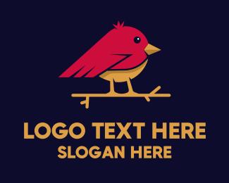 Varsity - Cute Little Bird logo design