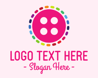 Seamstress - Colorful Button logo design