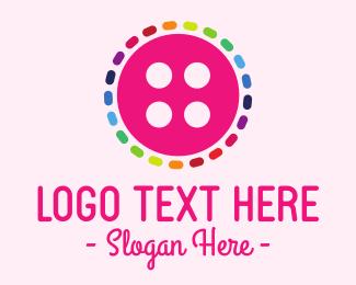 Seamstress - Colorful Button logo design
