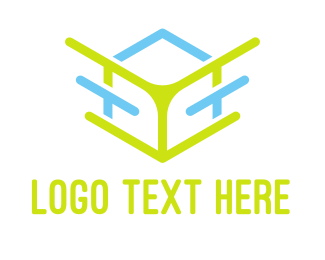 Data Transfer - Abstract Cube Outline logo design
