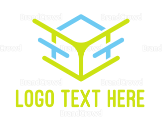 Data Transfer - Abstract Cube Outline logo design