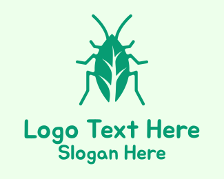 Cockroach - Green Cockroach logo design