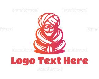Man - Modern Indian Man logo design