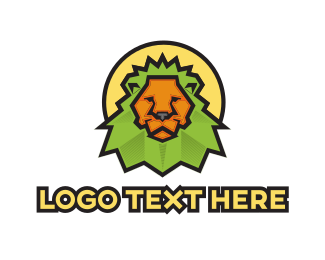 Sunset - Green Lion logo design