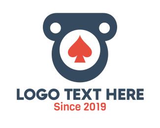 Gamble - Spade Pillar Badge logo design