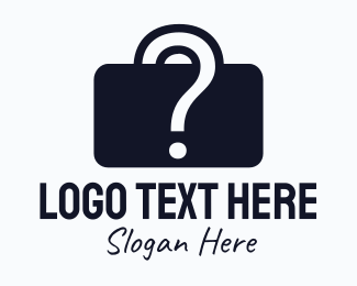 Unknown - Question Mark Briefcase logo design