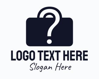 Question Mark - Question Mark Briefcase logo design