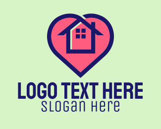 Stay At Home - Safe At Home logo design