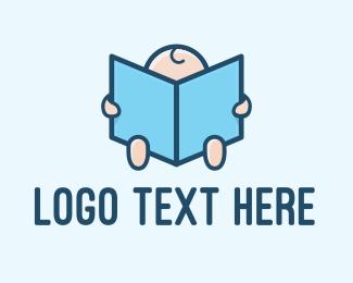 Learning - Baby Bedtime Story Book logo design