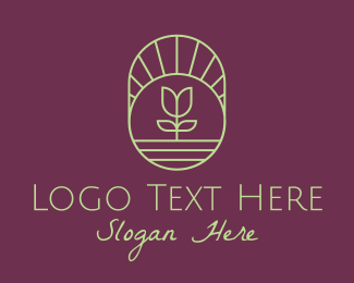 Ecofriendly - Flower Landscape logo design