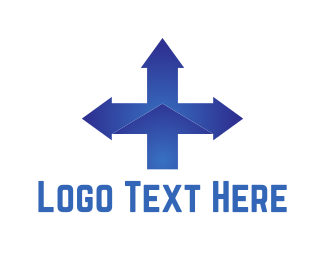 South - Blue Cross Directions logo design