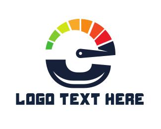 Sprint - Speedometer Letter E logo design