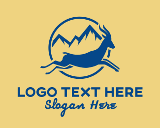 Stag - Blue Mountain Gazelle  logo design