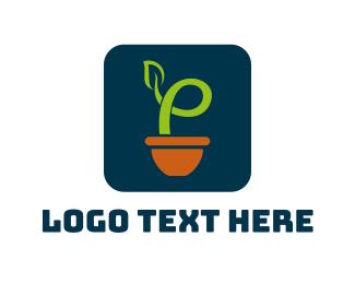 Clay - Leaf Plant App logo design