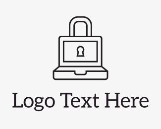 Hack - Laptop Lock logo design