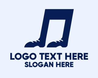 Listen - Foot Note logo design