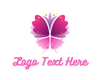 Dragonfly - Sparkling Butterfly logo design