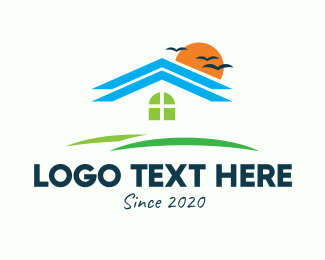 Vacation House - Real Estate Subdivision Housing logo design
