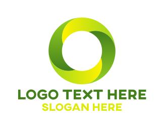 Letter O - Green O logo design