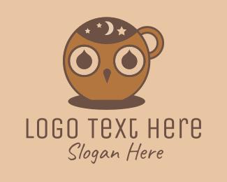 Evening - Night Owl Cafe  logo design