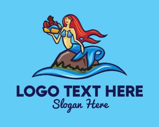 Lobster - Blue Siren logo design
