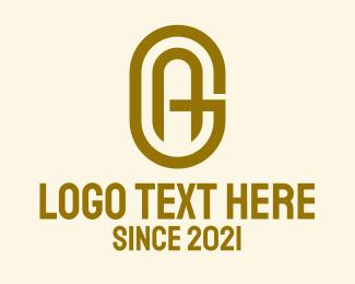 Mw - Gold A & G Monogram logo design