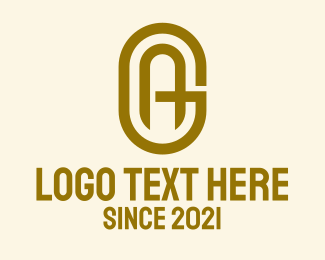 Gold A & G Monogram Logo