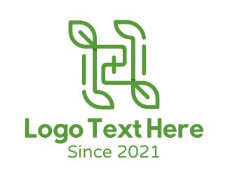 Leaf - Musical Note Leaves logo design