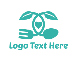 Recipe - Organic Food logo design