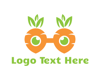 Geek - Geek Carrot Glasses logo design