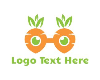 Geek - Geek Carrot Glasses logo design